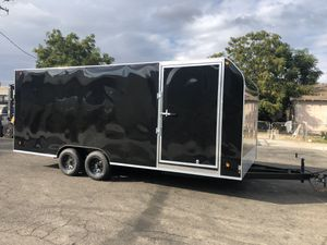 8-1/2 x 20 x 7 Black Enclosed Trailer for Sale in Anaheim, CA
