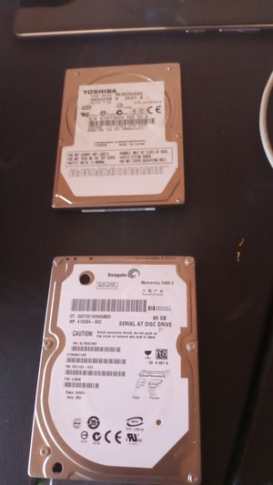 Toshiba@segate laptop hd drive 80 g for Sale in Canutillo, TX