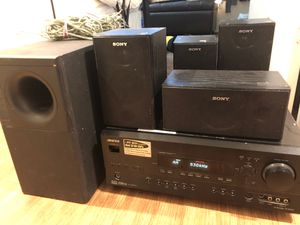 ONKYO stereo speaker bundle (missing power button but can still be pressed) for Sale in Everett, WA