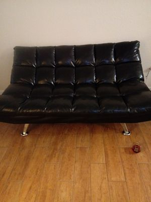 Black Leather Futon for Sale in West Palm Beach, FL