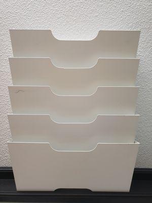 IKEA Kvissle 5 Shelve Metal Wall Magazine File Rack for Sale in Hayward, CA