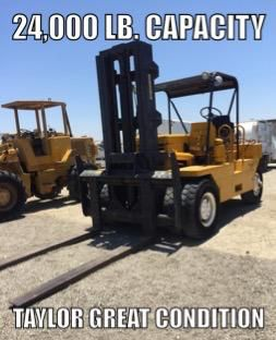 FORKLIFT Taylor brand 24,000 lb. Capacity FORK LIFT for Sale in Claremont, CA
