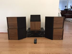 5 Bose 2.2 speakers good condition sound great with Yamaha RX-V663 receiver and remote HDMI connection 7.1 channel 665 Watts, can test...etc. for Sale in Edmonds, WA