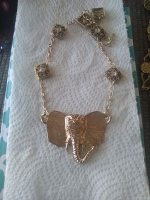"""Handmade Elephant Necklace 18""""+3"""" extender for Sale in Port Richey, FL"""