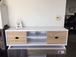 Sophia TV Stand for TVs up to 70 inch, Weathered and White, SKU # 151281 for Sale in Norwalk, CA