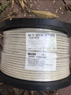 Belden 9406 Audio Control & Instrumentation Cable 1000 feet ACCEPTING OFFERS AND NEGOTIATION (music, dj, audio, stereo) for Sale in Miami, FL