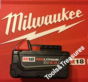 MILWAUKER BATTERY 5.0 XC RED LITHIUM NEW M18. for Sale in Santa Ana, CA