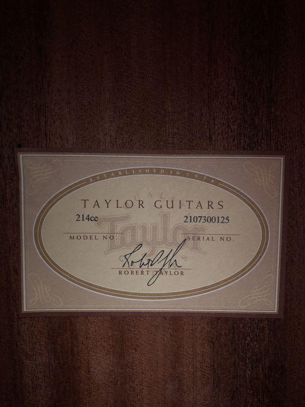 Taylor 214CE Acoustic/Electric Guitar
