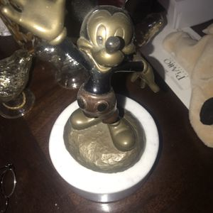 Disney Pewter Mickey Mouse Figurine AND Top ONLY To A Trinket-box for Sale in Indio, CA