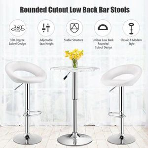 Brand New Set of 2 White Adjustable Swivel Bar Stools for Sale in Beverly Hills, CA