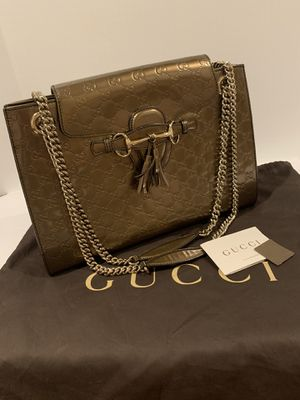 Gucci Emily Guccisimma Large Chain Shoulder Bag PRISTINE CONDITION for Sale in San Diego, CA