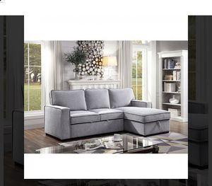 Sectional sofa set with storage & pull out sleeper for Sale in Bloomington, CA