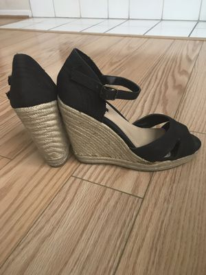 Wedge Heels in Black 7 1/2 for Sale in Rancho Cucamonga, CA