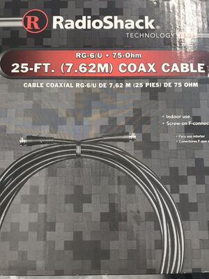 COAX CABLE CORD BRAND NEW 25 ft for Sale in Houston, TX