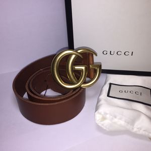 Gucci Brown Brass Leather Belt Authentic for Sale in The Bronx, NY