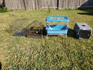 4 cages/jaula for dog , birds and bunnies & hamster for Sale in Cypress, TX