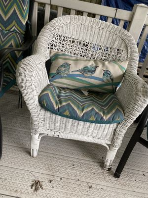 2 chairs one table outdoor wicker furniture for Sale in Virginia Beach, VA