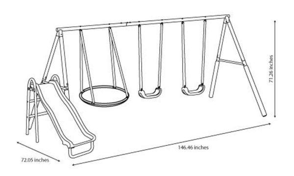 🔥 Brand New Heavy Duty Slide, 2 Swings, a Saucer Swing Set