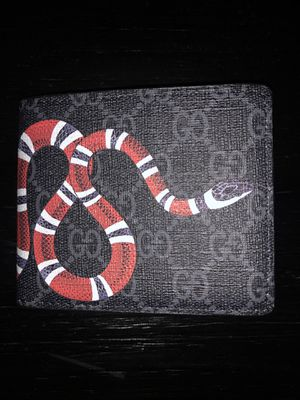 BLACK GUCCI KING SNAKE WALLET for Sale in Dallas, TX