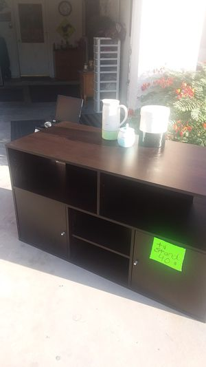 Dark brown tv stand Television console for Sale in Gilbert, AZ
