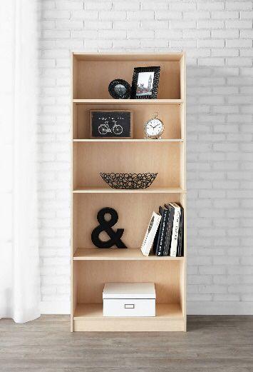 NEW bookcase display case shelving Storage Cabinet unit white, oak wood, brown, black bookshelf