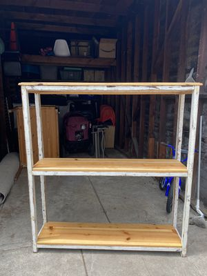 Rustic 3-tier shelf unit for Sale in Los Angeles, CA
