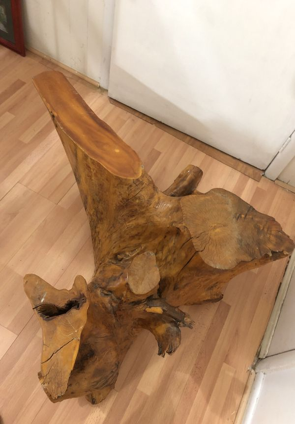 Natural Tree Stump Coffee Table