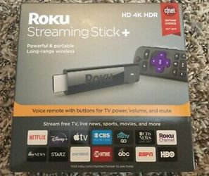 Brand New Roku Streaming Stick+ Black (3810R) for Sale in Missouri City,  TX