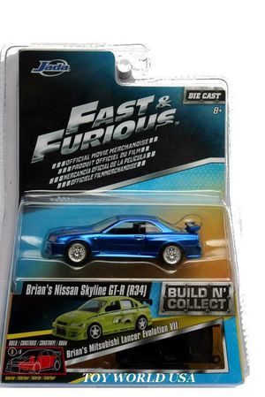 Jada Fast & Furious Die Cast Brian's Nissan Skyline GT-R (R34) for Sale in Chula Vista, CA