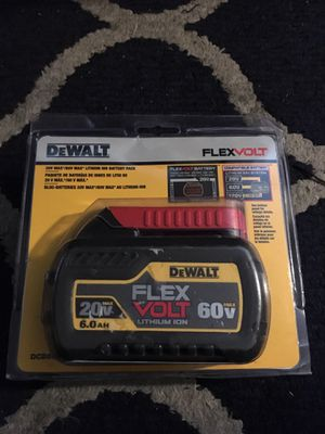 Dewalt flex volt 20v 60v 6ah for Sale in White Plains, NY
