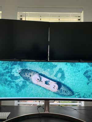 LG Curved 49inch 32:9 Super UltraWide monitor with HDR 10. 49WL95C-W for Sale in Grand Prairie, TX