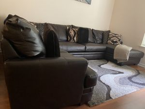 Leather Sectional Couch for Sale in Herndon, VA