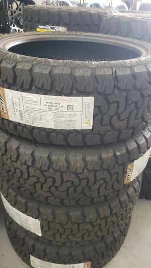 Brand new set of amp all terrain tires 285 45 22 lt for Sale in Phoenix, AZ