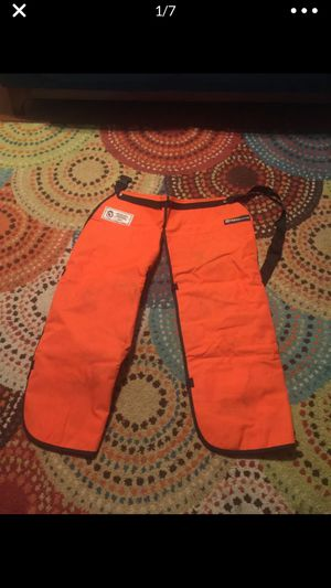 Husqvarna leg chaps Chainsaw tree trimming for Sale in Riverside, CA