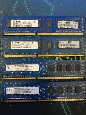 Elpida/Nanya DDR3 8gb (4x2gb) 1333mhz RAM for Sale in Caldwell, ID
