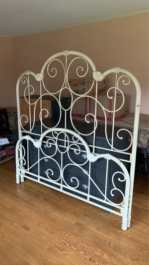 Queen wrought iron bed frame for Sale in Roanoke, VA