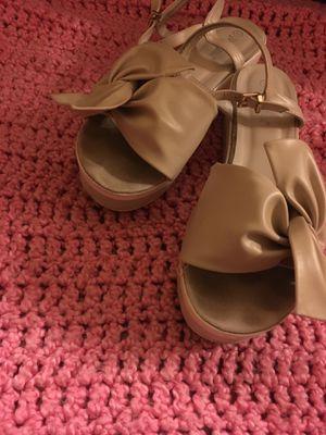 Leather Bow Platform Sandals for Sale in El Dorado, AR