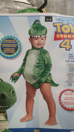 Rex toy story baby costume for Sale in Litchfield Park, AZ