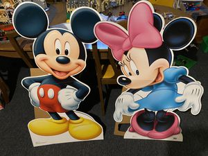 """Huge lifesize 42"""" Mickey & Minnie Mouse Cardboard Standees Standups for Sale in Shelby Charter Township, MI"""