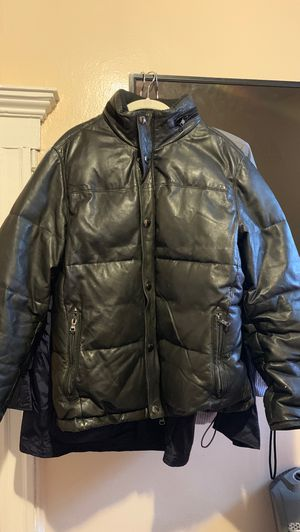 Brooks breathers genuine leather coat. for Sale in Passaic, NJ