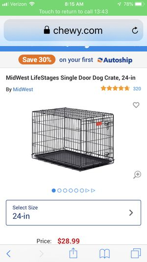 "Lifestyles 24"" dog crate for Sale in Beverly Hills, MI"