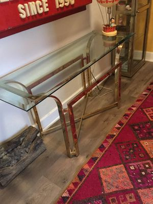 Mid century modern brass console for Sale in Los Angeles, CA