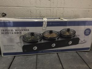 Triple slow cooker and server for Sale in Adelphi, MD