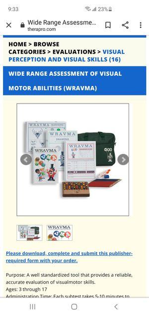 Wide Range Assessment of Visual Motor Abilities for Sale in Destin, FL
