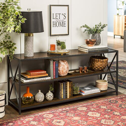 Bookshelves, TV console