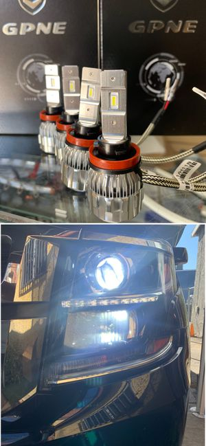 Super bright CSP LEDs headlights 30$ 1 year warranty plug and play free license plate LEDs with purchase for Sale in Commerce, CA
