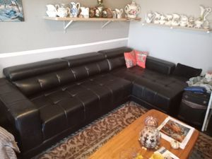Leather 2 Piece Sectional Sofa for Sale in Mesa, AZ