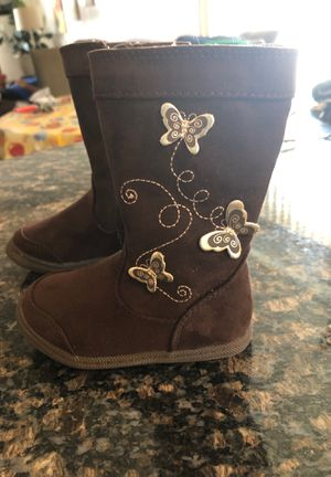 American eagle girl boots with butterflies size 5 for Sale in East Providence, RI