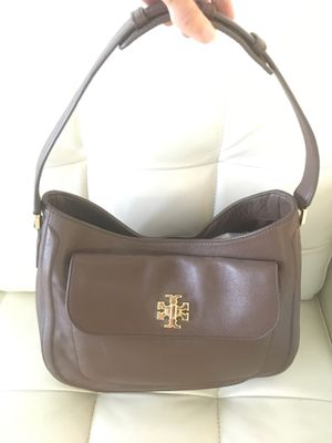Tory Burch Brown Pebbled Leather Tote, Mercer Slouchy Hobo Bag, New, Retail $485, for Sale in Fort Lauderdale, FL