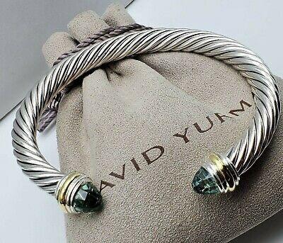 David Yurman 7mm Prasiolite & Gold Bracelet